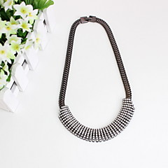 Women's Choker Necklaces Jewelry Circle Jewelry Simulated Diamond Alloy Euramerican Simple Style Luxury European Fashion Personalized