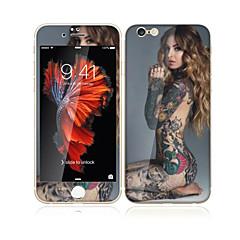 iPhone 6s plus / 6plus 5,5 tuumaa karkaistua lasia pehmeällä reunaan peittää koko näytön edessä näytön suojakalvon ja selkäsuoja seksikäs