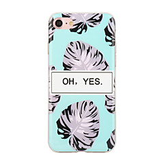For IMD Mønster Etui Bagcover Etui Ord / sætning Blødt Gummi for Apple iPhone 7 Plus iPhone 7 iPhone 6s Plus/6 Plus iPhone 6s/6