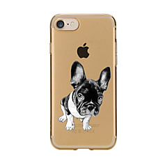 For Transparent Pattern Case Back Cover Case Cartoon Dog Soft TPU for IPhone 7 7Plus iPhone 6s 6 Plus iPhone 6s 6 iPhone 5s 5 5E 5C