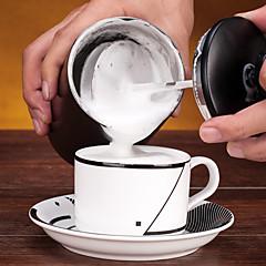 # ml Paslanmaz Çelik Süt köpürtücü , filtre kahve Maker Yeniden kullanılabilir