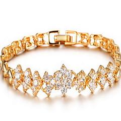 Bracelet Chain Bracelet Alloy Zircon Rhinestone Flower Fashion Party Special Occasion Birthday Engagement Jewelry Gift Gold,1pc