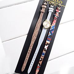 Mulheres Infantil Unissex Relógio de Moda Relógio de Pulso Bracele Relógio Quartzo Colorido Couro BandaVintage Boêmio Pendente Bracelete