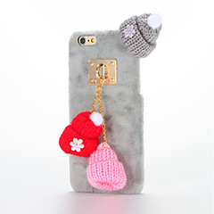 For DIY Case Colorful Pendant hats Plush PC Back Cover Case for Apple iPhone 7 Plus iPhone 7 iPhone 6s Plus/6 Plus iPhone 6s/6