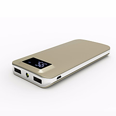 10000mAh Portable LCD QC3.0 Power Bank Mobile Phone and Tablet External Battery Backup Battery Charger Dual USB Powerbank for Xiaomi Samsung  iPhone