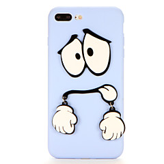 For DIY Case Back Cover Case 3D Funny Cartoon Soft TPU for Apple iPhone 7 Plus iPhone 7 iPhone 6s Plus iPhone 6 Plus iPhone 6s iPhone 6