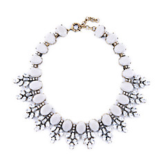 Women's Collar Necklace Leaf Chrome Unique Design Jewelry For Congratulations Thank You Gift 1pc