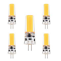 3W G4 2-pins LED-lampen T 1 COB 200-300 lm Warm wit Koel wit Dimbaar Decoratief AC 12 V 5 stuks