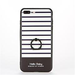 Mert Tartó gyűrű Dombornyomott Minta Case Hátlap Case Vonalak / hullámok Kemény PC mert AppleiPhone 7 Plus iPhone 7 iPhone 6s Plus iPhone