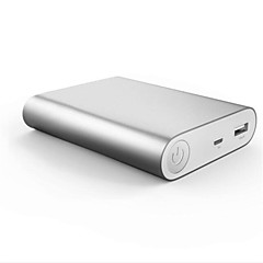 Aluminum Alloy Matte 10000mA Bidirectional QC2.0 Fast Charging Automatic Regulating Current Over-current Protection Mobile Power Bank