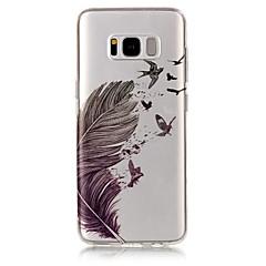 Mert IMD Átlátszó Minta Case Hátlap Case Toll Puha TPU mert Samsung S8 S8 Plus S7 edge S7 S6 edge S6 S5