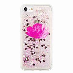 Για Ρέον υγρό Με σχέδια tok Πίσω Κάλυμμα tok Λάμψη γκλίτερ Λουλούδι Μαλακή TPU για AppleiPhone 7 Plus iPhone 7 iPhone 6s Plus iPhone 6
