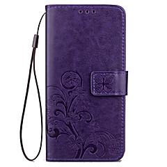 For Pung Kortholder Med stativ Præget Etui Heldækkende Etui Helfarve Hårdt Kunstlæder for XiaomiXiaomi Redmi 4 Prime Xiaomi Redmi 4