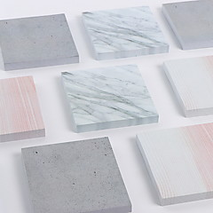 1 PCS 75 Pages Marble Grain Self-Stick Notes Cute
