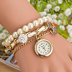 Women's Pearl Pendant Table Nautical Wind Anchor Brand Fashion Quartz Watch