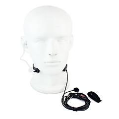 keel microfoon PTT headset walkietalkie geheime akoestische buis voor Kenwood baofeng 365 Wanhua TYT HYT