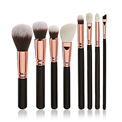 8pcs Brush Sets Blushkwast Oogschaduwkwast Concealerkwast Poederkwast Foundationkwast Contour Brush Synthetisch haar Professioneel Beugel