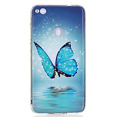 Mert Foszforeszkáló IMD Minta Case Hátlap Case Pillangó Puha TPU mert HuaweiHuawei P10 Lite Huawei P10 Huawei P9 Lite Huawei P8 Lite