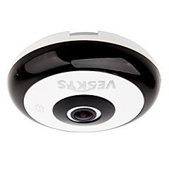 veskys® 360 graus hd fisheye câmera de segurança visão completa ip rede wi-fi 1.3MP