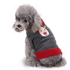 Gatos Perros Suéteres Ropa para Perro Invierno Reno Adorable Moda Navidad Gris