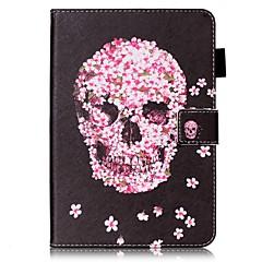 För Skal fodral Plånbok Korthållare med stativ Lucka Mönster Heltäckande fodral Dödskalle Hårt Konstläder för AppleiPad Mini 4 iPad Mini