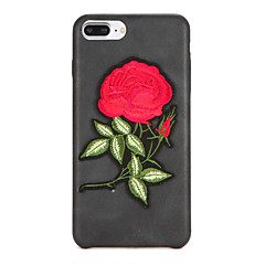 For DIY Case Back Cover Case Flower Hard PU Leather for Apple iPhone 7 Plus iPhone 7 iPhone 6s Plus iPhone 6 Plus iPhone 6s iPhone 6