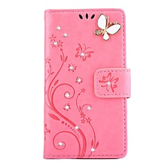 for Sony Xperia X XP XA XZ Rhinestone Embossed Butterfly PU Leather for Sony Xperia Z3 Z4 Z5 Z3 mini Z4 mini Z5 mini M2 E5 X XP XA XZ