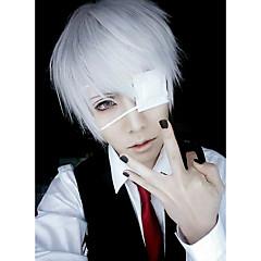 Cosplay Pruiken Masker Tokyo Ghoul Ken Kaneki Zilver Kort Anime Cosplaypruiken 26 CM