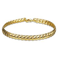 Női Lányok Lánc & láncszem karkötők Kristály Arannyal bevont Rózsa arany bevonattal Barátság Divat Kígyó Arany Vörös arany Ékszerek 1db
