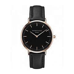 Жен. Модные часы Кварцевый Кожа Группа Повседневная Черный Белый Розовый