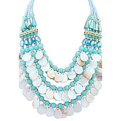 Women's Statement Necklaces Jewelry Jewelry Gem Rhinestone Alloy Euramerican Fashion Personalized Light Blue Blushing Pink Rainbow Black