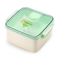 Double-desk Reusable Lunch Container Set Bento Boxes
