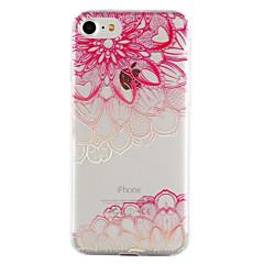 Για iPhone 8 iPhone 8 Plus Θήκες Καλύμματα Διαφανής Ανάγλυφη Με σχέδια Πίσω Κάλυμμα tok Lace Εκτύπωση Μαλακή TPU για Apple iPhone 8 Plus