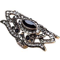 Vallomás gyűrűk Gyűrű Egyedi Régies (Vintage) Személyre szabott Euramerican luxus ékszer Méretes ékszerek Divat Üveg ÖtvözetGeometric
