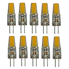 1.5W G4 LED Bi-Pin lamput T 1 COB 250 lm Lämmin valkoinen Valkoinen Koristeltu AC220 V 10 kpl