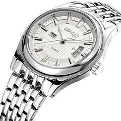 WeiQin Heren Modieus horloge Kwarts Kalender Waterbestendig Roestvrij staal Band Zilver