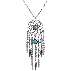 Women's Pendant Necklaces Dream Catcher Alloy Euramerican Fashion Bohemian Silver Jewelry For Daily 1pc