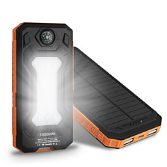 The New 8000mah  Ssolar Charger Camping Lamp Compass Universal Ssolar Mobile Power Supply