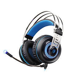 sades a7 usb 7.1 surround sound professionele stereo hoofdtelefoon voor games blauwe led-verlichting headsets met microfoon voor laptop pc