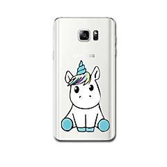 Mert tokok Ultra-vékeny Minta Hátlap Case Egyszarvú Puha TPU mert Samsung Note 5 Note 4 Note 3