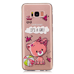 Voor IMD Transparant Patroon hoesje Achterkantje hoesje Cartoon Zacht TPU voor Samsung S8 S8 Plus S5 Mini S4 Mini