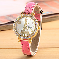 Women's Fashion Watch Quartz Leather Band Casual White Red Pink
