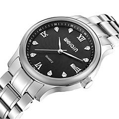WeiQin Heren Modieus horloge Japans Japanse quartz Waterbestendig Roestvrij staal Band Zilver