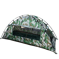 1 személy Sátor Egyszemélyes kemping sátor Összecsukható sátor Vízálló Hordozható 2000-3000 mm mert Túrázás Kemping CM Egy szoba Üvegszál
