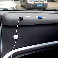 Ziqiao 10st multifunktionell självhäftande bil laddare linje spänne klämma hörlurar / usb kabel bil klipp inredning tillbehör (2,8 *