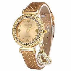 Γυναικεία Μοδάτο Ρολόι Ρολόι Καρπού Μοναδικό Creative ρολόι Καθημερινό Ρολόι Χαλαζίας PU ΜπάνταHeart Shape Φυλαχτό Πολυτελές Απίθανο
