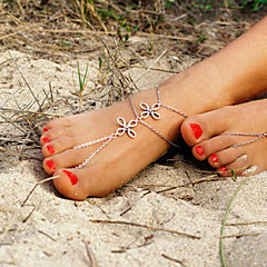 Women's Anklet/Bracelet Alloy Unique Design Fashion Simple Style Jewelry Silver Women's Jewelry Daily Casual 1pc