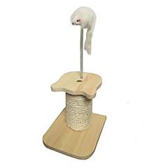 Zabawka dla kota Zabawki dla zwierząt Interaktywne Drapak Trwały Drewniany Sznurkowy sizal