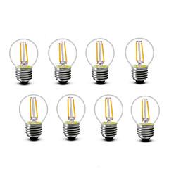 2W E14 E27 Lampadine LED a incandescenza G45 2 COB 200 lm Bianco caldo Decorativo AC220 AC230 AC240 V 8 pezzi
