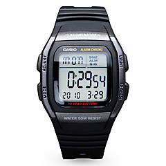 Casio Heren Sporthorloge Modieus horloge Digitaal horloge Japans Digitaal Kalender Waterbestendig Rubber Band Vrijetijdsschoenen Zwart